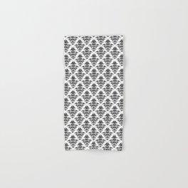 Damask Pattern | Black and White Hand & Bath Towel