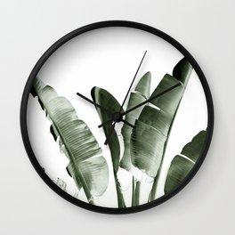Traveler palm Wall Clock