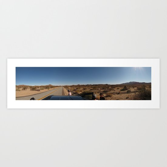 Three Places at Once Art Print