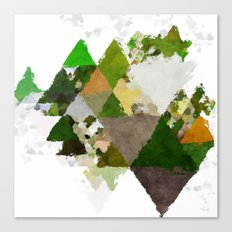 Spring Triangles - Fresh green and white triangle pattern - Greenery on #Society6 Canvas Print
