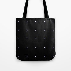 BLACK + neon pixels/ minimal Tote Bag