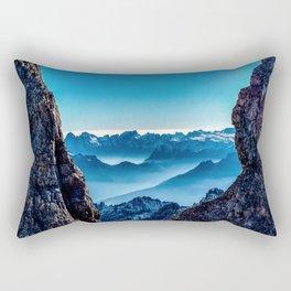 Moutain sky ice blue Rectangular Pillow