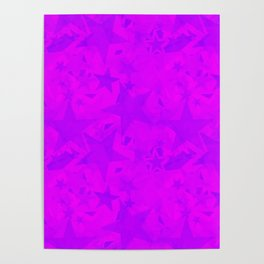 Calm intersecting blurred purple stars on a lilac background. Poster