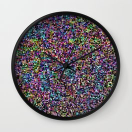 treemap mosaic - low blood pressure Wall Clock