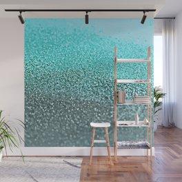 TEAL GLITTER Wall Mural