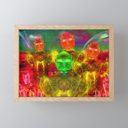 Martian Family Greeting Framed Mini Art Print