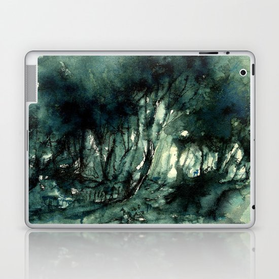 mürekkeple orman Laptop & iPad Skin