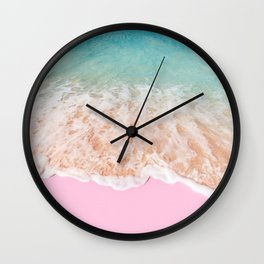 PINK SAND Wall Clock