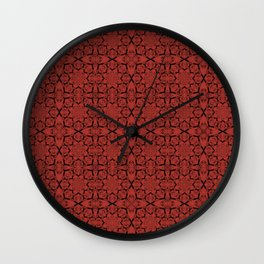 Aurora Red Geometric Wall Clock