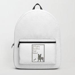French Bulldog Gent in Herringbone Tweed  Backpack