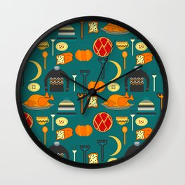Family dinner Wall Clock