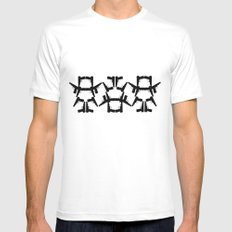 Pistol Robots MEDIUM White Mens Fitted Tee