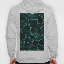 Dark Teal Ink Gold Geometric Glam #1 #geo #decor #art #society6 Hoody