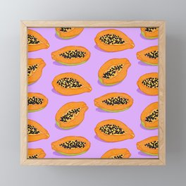 Papaya Framed Mini Art Print