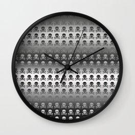 Skull and XBones - Smaller: Metal and Slight Pink Wall Clock