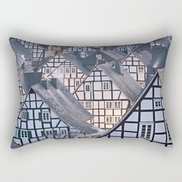 Historic half-timbered houses of Germany Rectangular Pillow