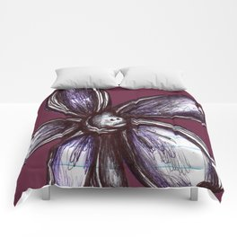 """""""Bound up by Bandages"""" Flowerkid Comforters"""