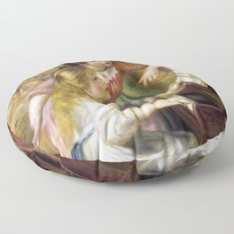 Pierre-Auguste Renoir - Young Girls At The Piano - Digital Remastered Edition Floor Pillow