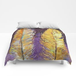 Gold Feathers Comforters