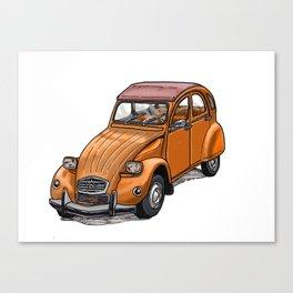 Orange 2CV Canvas Print
