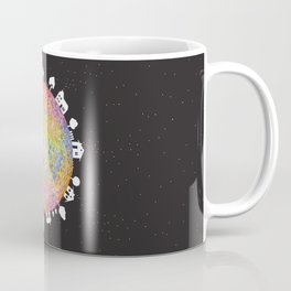 Flower Planet, watercolor painting house Coffee Mug