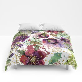 Abstract plants and flowers Comforters