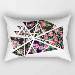 Triange Flowers Rectangular Pillow