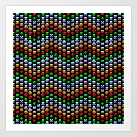 Beaded Chevrons Art Print