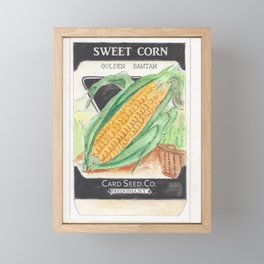 Sweet Corn Seed Packet Framed Mini Art Print
