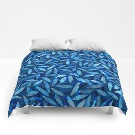Indigo Botanical Pattern Comforters