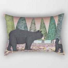 black bears & evergreens Rectangular Pillow
