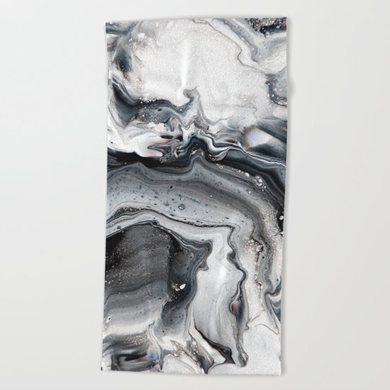 Marble in the Water Beach Towel