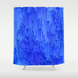 Melted, blue Shower Curtain