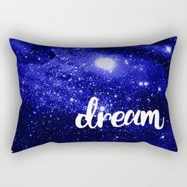 Blue Galaxy Dream Rectangular Pillow