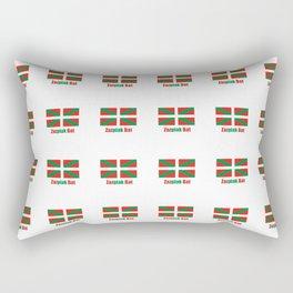 Flag of Euskal Herria 7-Basque,Pays basque,Vasconia,pais vasco,Bayonne,Dax,Navarre,Bilbao,Pelote,spa Rectangular Pillow