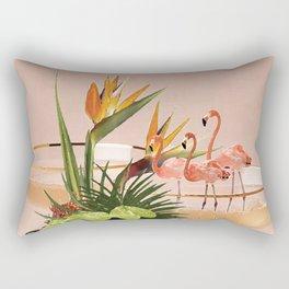 Flamingo Cocktail Rectangular Pillow