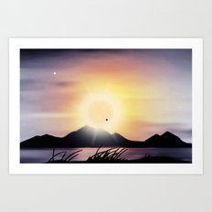amazing sunset Art Print