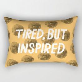 Tired But Inspired Rectangular Pillow