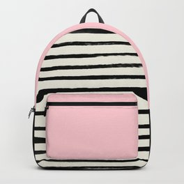 Millennial Pink x Stripes Backpack