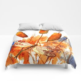 Dragonfly and Cattails Comforters
