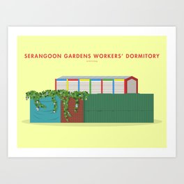 Serangoon Gardens Workers' Dormitory, Singapore [Building Singapore] Art Print