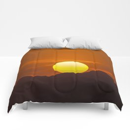 """Desert Sunset 1"" by Murray Bolesta Comforters"