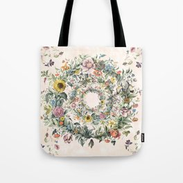 Circle of life- floral Tote Bag