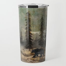 Mountain Black Bear Travel Mug