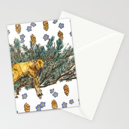 Red Dog and Sage in Lamar Valley Stationery Cards