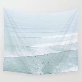 Tiny Surfers from the Sky, Lima, Peru Wall Tapestry