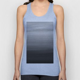 Touching Black Gray White Watercolor Abstract #1 #painting #decor #art #society6 Unisex Tank Top