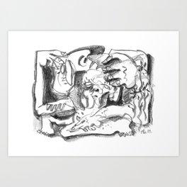 Weight - b&w Art Print