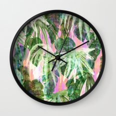 Lindsey Tropical pink Wall Clock