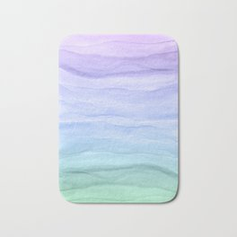 Layers Blue Ombre - Watercolor Abstract Bath Mat